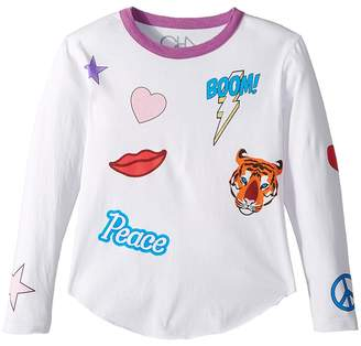 Chaser Kids Vintage Jersey Flash Boom Kiss Tee Girl's T Shirt