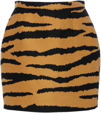 Proenza Schouler Animal-Print Wool And Silk-Blend Mini Skirt