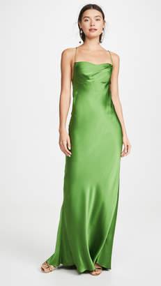 Mason by Michelle Mason Cowl Bias Gown