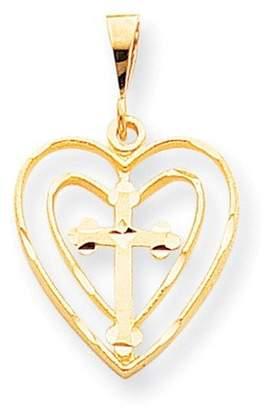 Jewels By Lux 10k CROSS IN HEART CHARM