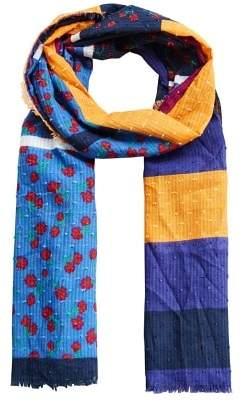 MANGO Floral print scarf