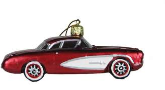 Kurt Adler Glass Corvette, Christmas Ornament