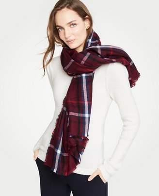 Ann Taylor Tartan Plaid Blanket Scarf