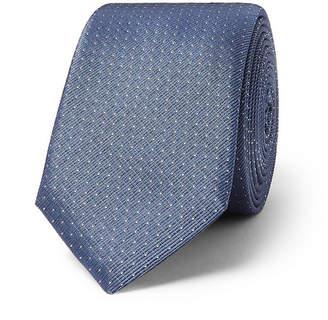 HUGO BOSS 6cm Pin-Dot Silk-Twill Tie - Men - Blue