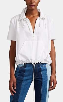 Maison Margiela Women's Cotton Poplin Anorak Top - White
