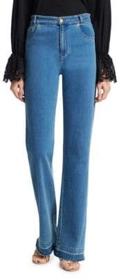 High-Waist Flare Jeans
