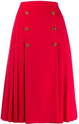 Dolce & Gabbana pleated midi skirt