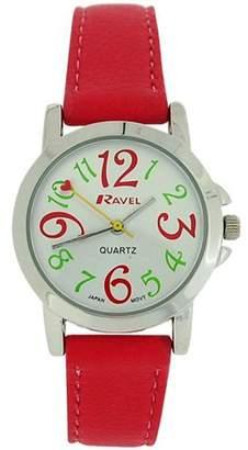 Ravel Ladies - Girls Dial & Pink PU Buckle Strap Watch R0126.05.2