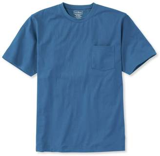 L.L. Bean L.L.Bean Carefree Unshrinkable Tee with Pocket, Traditional Fit Short-Sleeve