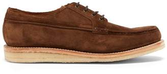 Grenson Tucker Suede Derby Shoes - Mens - Brown
