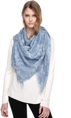 Soia & Kyo NISHA square woven scarf with frayed edges