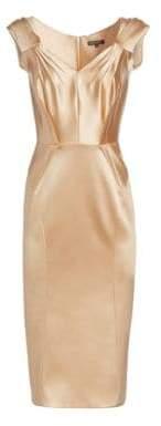 fa91f17818 ... Zac Posen Women s Stretch Satin Cocktail Dress - Champagne - Size 6