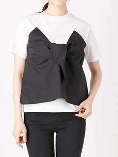 EVRIS (エヴリス) - バイカラービスチェレイヤードTシャツ