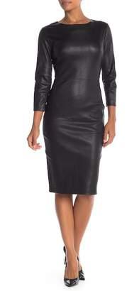 Jarbo Sheath Lamb Leather Dress