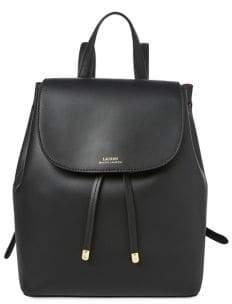 Lauren Ralph Lauren Drawstring Leather Backpack