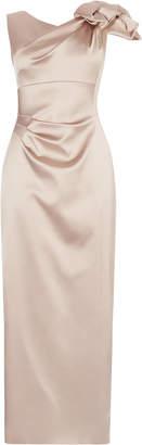 Karen Millen Satin one-shoulder maxi dress