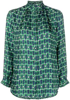 Parker Chinti & geometric fitted shirt