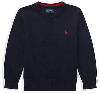 Ralph Lauren Little Boy's Cotton Crew Neck Sweater