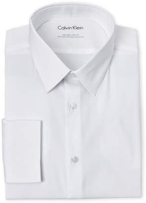 Calvin Klein Extreme Stretch French Cuff Slim Fit Dress Shirt