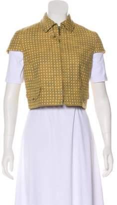 Akris Punto Short Sleeve Zip-Up Vest w/ Tags white Short Sleeve Zip-Up Vest w/ Tags