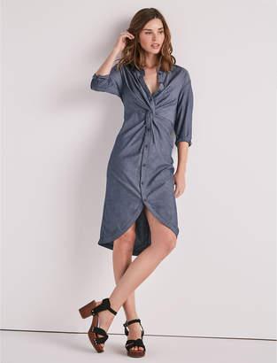 Lucky Brand Chambray Twist Midi Dress