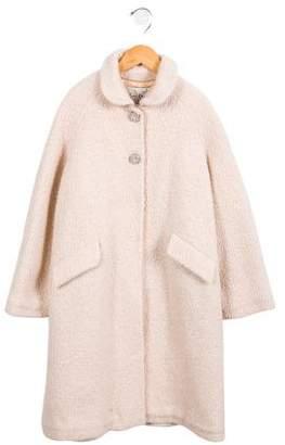 Rachel Riley Girls' Long Wool-Blend Coat