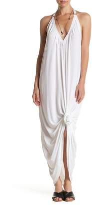 HAH | Hot-As-Hell Hanging By A Thread Jersey Halter Dress