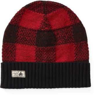Ralph Lauren Buffalo Plaid Wool-Blend Hat