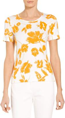 St. John Painted Floral Jersey T-Shirt