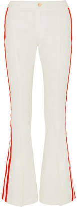 Maggie Marilyn - Game Changer Grosgrain-trimmed Mid-rise Bootcut Jeans - White