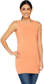 Women with Control Petite Long and Lean BateauNeck Tank