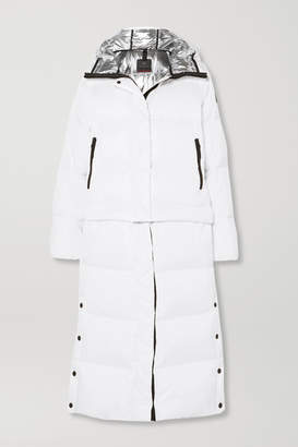 Bogner Fire & Ice BOGNER BOGNER FIREICE - Bia Convertible Hooded Quilted Down Ski Jacket - White