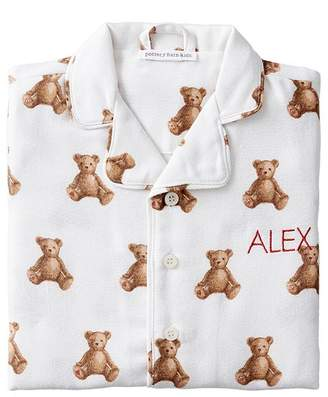 Pottery Barn Kids Teddy Bear Flannel Pajama, 2T