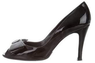 Marc Jacobs Patent Leather Peep-Toe Pumps