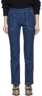 Chloé Blue Contrast Stitch Jeans