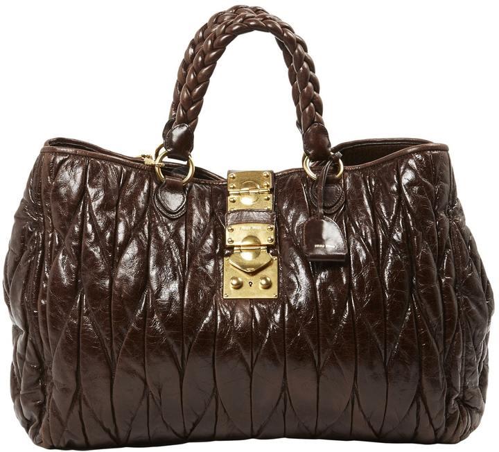 Miu MiuMatelassé leather tote