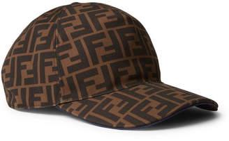 3079dfbfa23 Fendi Logo-Print Woven Baseball Cap