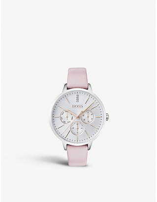 BOSS 1502419 Symphony stainless steel and leather quartz watch