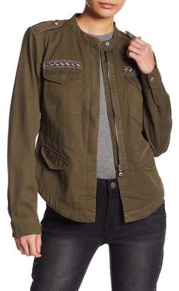 Romeo & Juliet Couture Embellished Military Lightweight Jacket