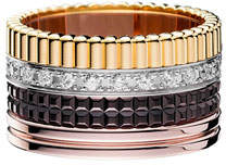 Boucheron Classic Quatre 18k Gold Large Diamond Band Ring, Size 56