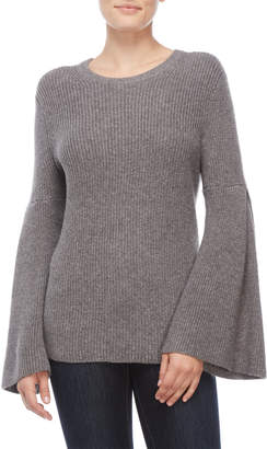 Vince Camuto Petite Ribbed Bell Sleeve Sweater