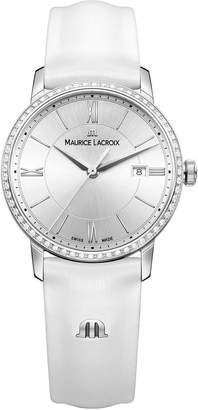 Maurice Lacroix Women's 'Eliros' Swiss Quartz Stainless Steel and Leather Casual Watch, Color:White (Model: EL1094-SD501-110-1)