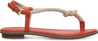 MICHAEL Michael Kors Holly leather and rope sandal
