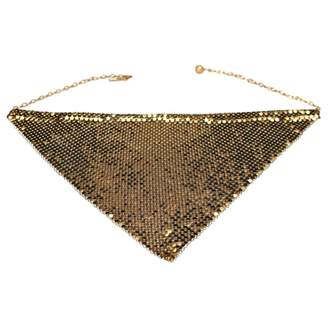 Paco Rabanne Vintage Gold Metal Necklace