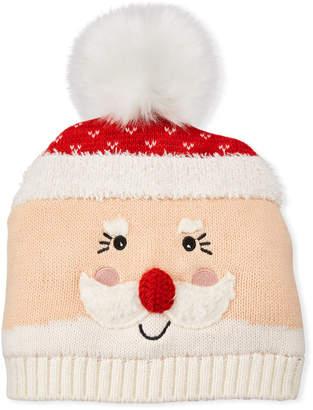 San Diego Hat Company Santa Beanie w/Faux-Fur Pompom