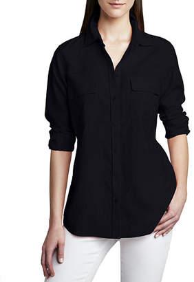 Go Silk Petite Safari Long-Sleeve Silk Shirt