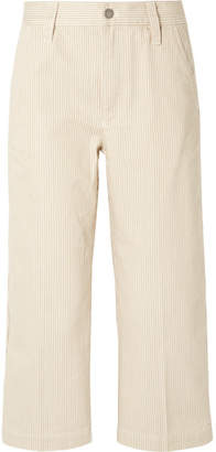 Marc Jacobs Cropped Striped Cotton Straight-leg Pants - Cream