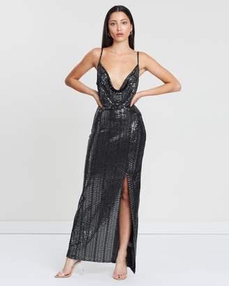 Black Split Maxi Dress Shopstyle Australia
