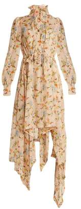 Preen by Thornton Bregazzi Martha Floral Print Silk Georgette Dress - Womens - Pink Multi