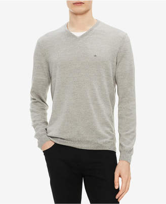 Calvin Klein Men's Solid Extra-Fine Merino V-Neck Sweater